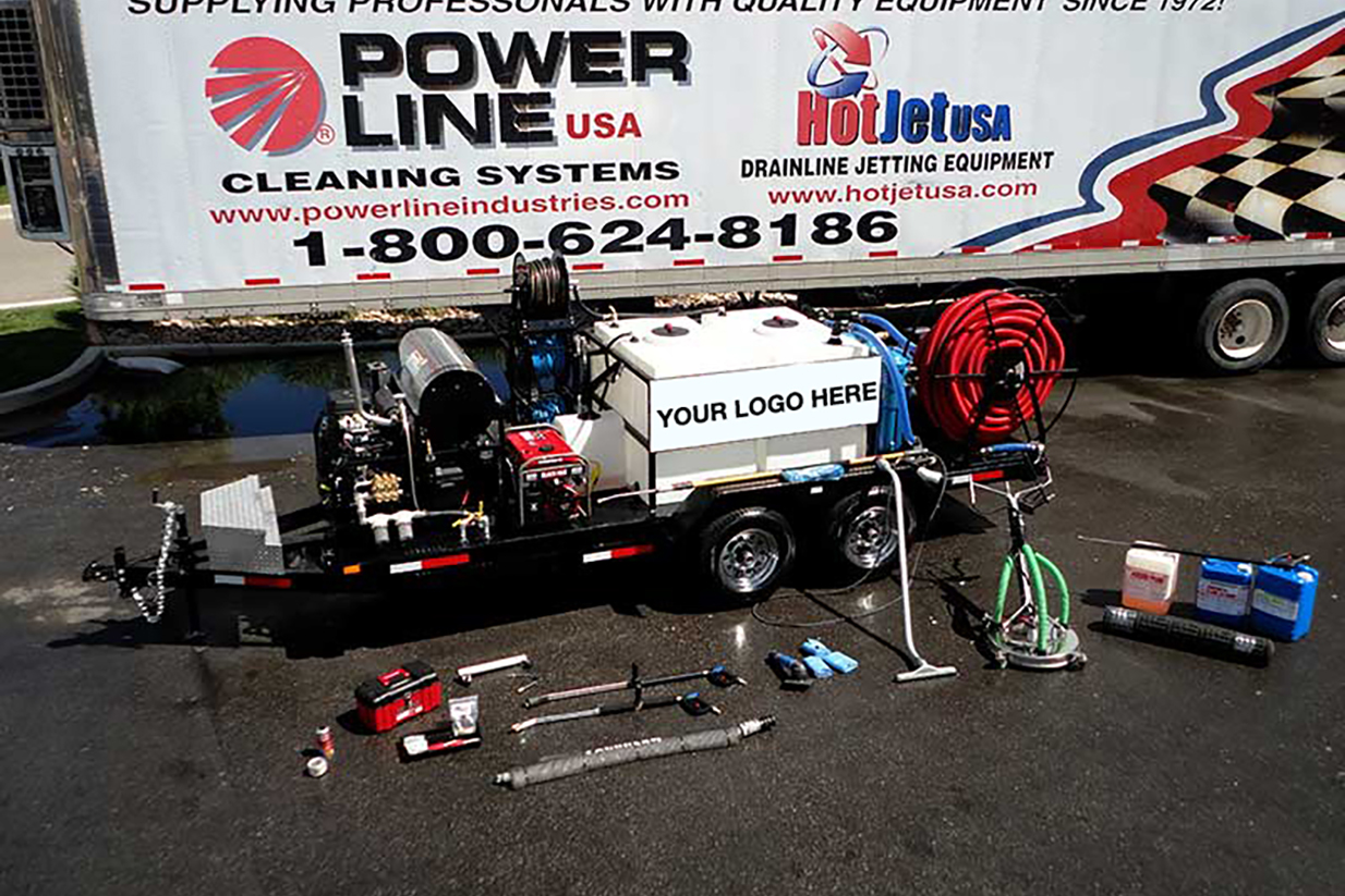 Environmental Power Wash Reclaim and Recycle Trailer System