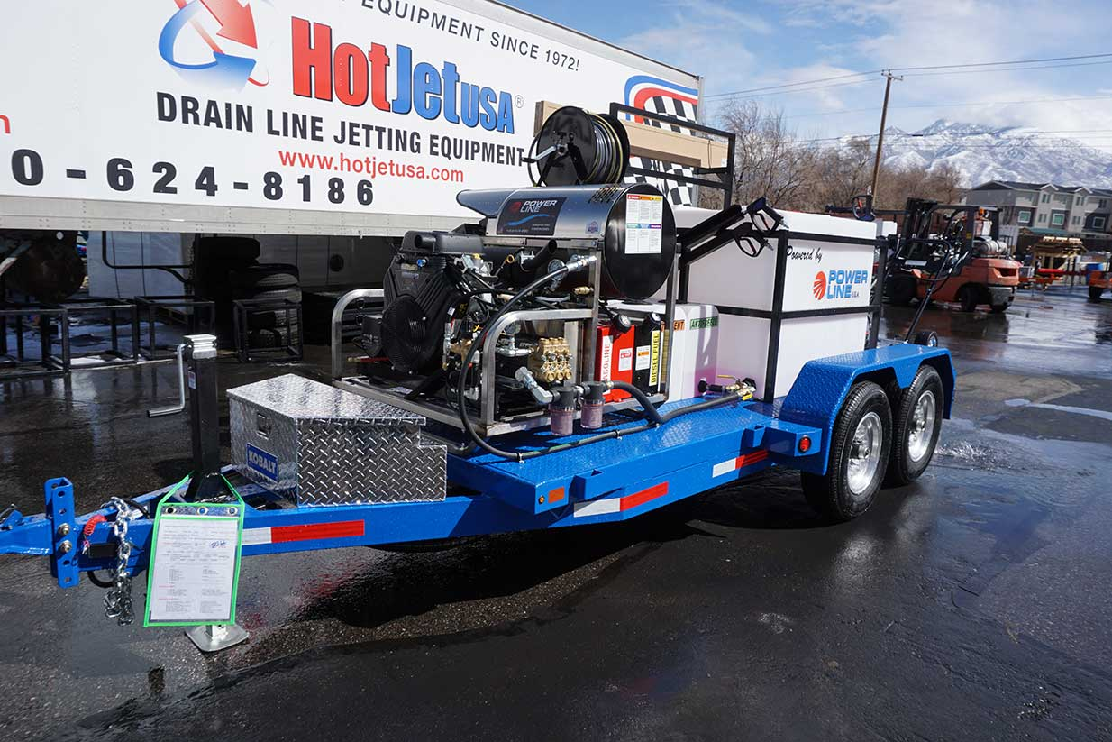 High Powered Power Wash Trailer System for Sale