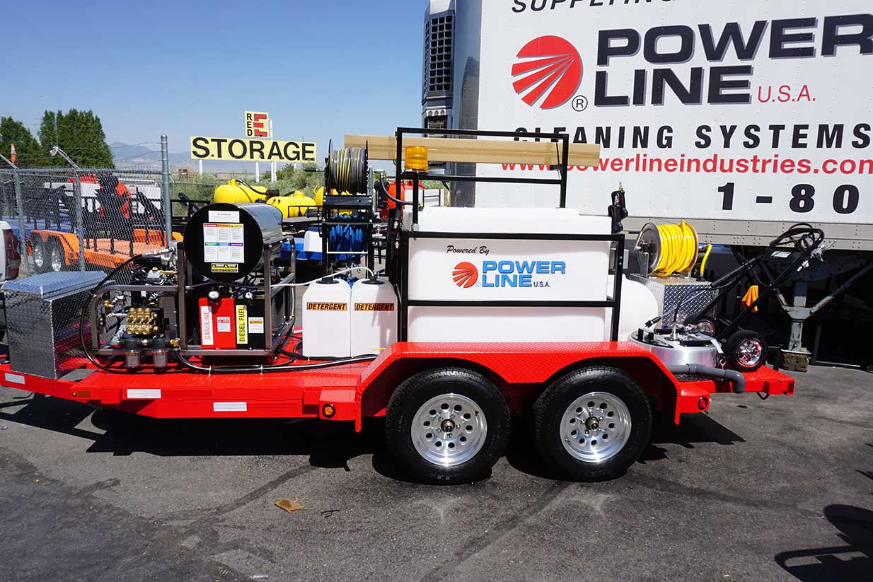 Complete Soft Wash 23HP Power Wash Trailer System